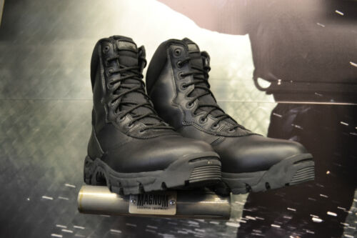 "Magnum Phantom 8"" Black Leather Uniform / Duty / Tactical Boots UK Sizes 6 - 14 <br/> Portal Friendly Boots Ideal for Prison Officers"