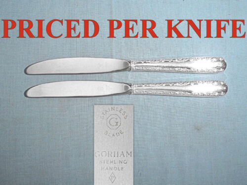 "GORHAM STERLING 9 1/8"" MODERN HOLLOW PLACE KNIFE(S) ~ CAMELLIA ~ NO MONO"