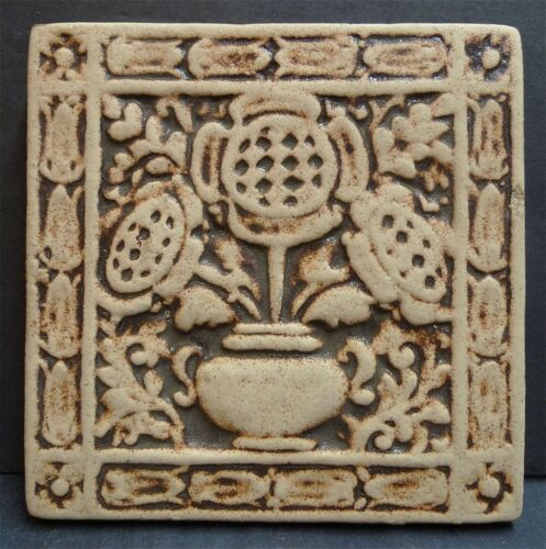 California Art Antique Floral Tile