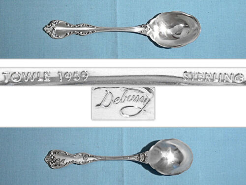 TOWLE STERLING LARGE SUGAR SHELL SPOON ~ DEBUSSY ~ NO MONO