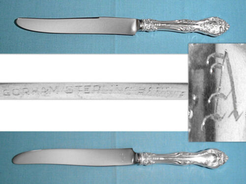 """GORHAM STERLING 9 5/8"""" NEW FRENCH HOLLOW KNIFE(S) ~ KING EDWARD ~ MONO A"""