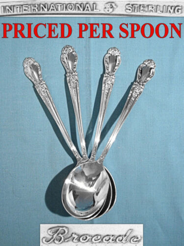 INTERNATIONAL STERLING CREAM SOUP SPOON(S) ~ BROCADE ~ NO MONO