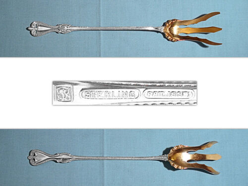 """TOWLE STERLING 9 1/2"""" LETTUCE SERVING FORK ~ OLD COLONIAL ~ NO MONO"""