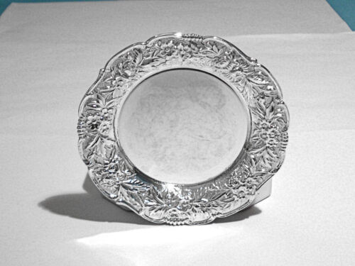 S KIRK & SON STERLING BUTTER PAT(S) 17F ~ REPOUSSE ~ NO MONO