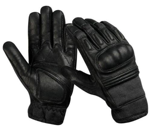 KEVLAR Tactical Hard Knuckle Gloves Goat Skin Digital Leather- Black,OD & Coyote