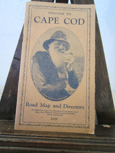 "ANTIQUE ,1929 ""CAPE COD"" ROAD MAP & DIRECTORY"