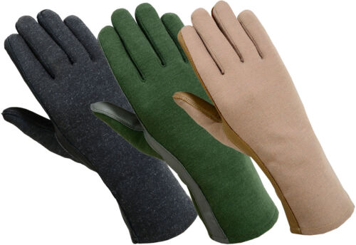 Cold Weather Nomex Tactical Flyer Flight  Gloves-Fleece Liner*Black,Green & Tan*