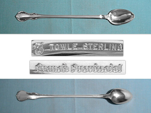 TOWLE STERLING ICED TEA SPOON(S) ~ FRENCH PROVINCIAL ~ NO MONO