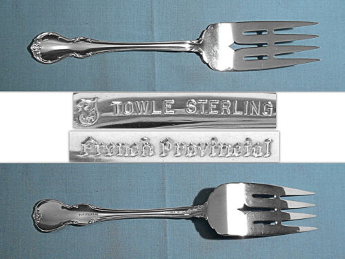 """TOWLE STERLING 8 1/4"""" SERVING FORK ~ FRENCH PROVINCIAL ~ NO MONO"""