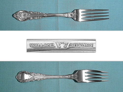 "WALLACE STERLING 7 1/4"" FORK(S) ~ SIR CHRISTOPHER ~ NO MONO"