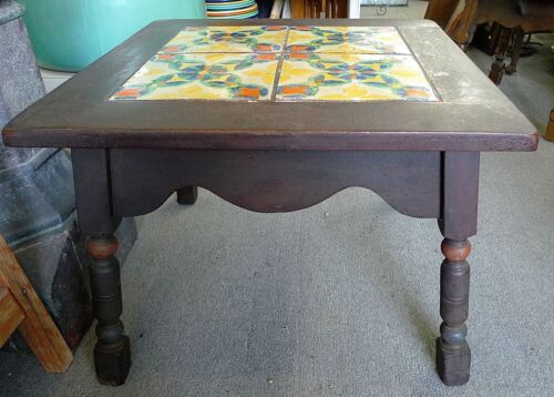 D & M  Tile Table  in Del Ray Style wood base
