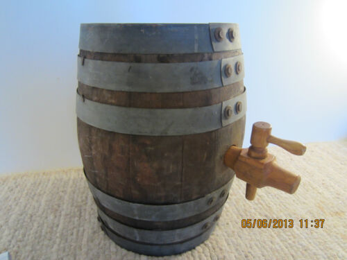 OLD MARITIME MINI OAK STOWAGE BARREL & SPIGOT