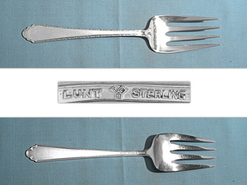 LUNT STERLING SERVING FORK ~ WILLIAM & MARY ~ NO MONO