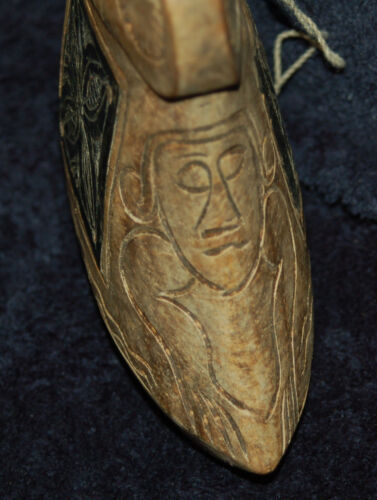 18th / 19th C. TRIBAL FIGURE CARVED WOOD SCULPTURE VESSEL ~ ANTIQUE