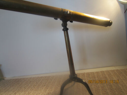 "ANTIQUE, BRASS MARITIME ""TELESCOPE"" ON TRIPOD"