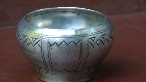 ANTIQUE 19C RUSSIAN IMPERIAL SILVER 84 MOSCOW 1896c HALLMARKS CAVIAR DISH