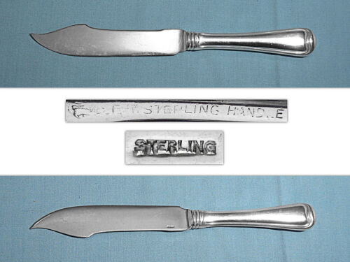 GORHAM STERLING FISH KNIFE(S) w/STERLING BLADE ~ OLD FRENCH ~ NO MONO