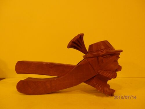Gnome Nut Breaker Hand Carved WOOD 1900-1940 Black Forest, Swiss.