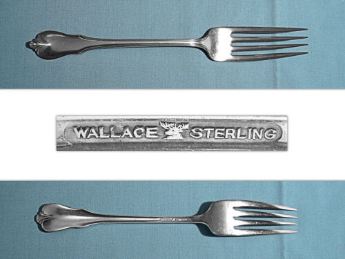 "WALLACE STERLING 7 3/4"" FORK ~ GRAND COLONIAL ~ NO MONO"