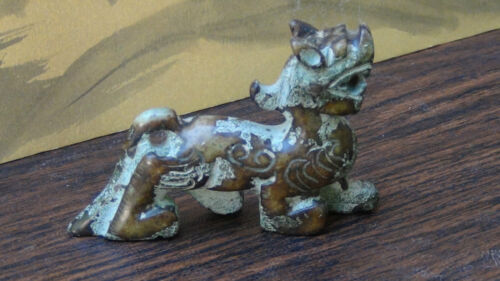 ANCIENT ANTIQUE  CHINESE HETIAN JADE HAND CARVED TIGER STATUE