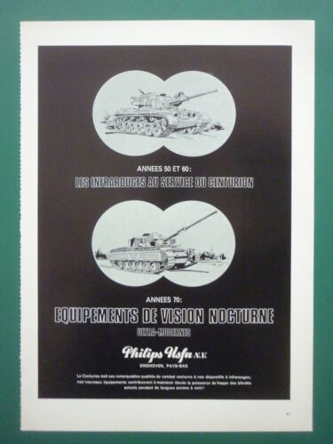 1969 PUB PHILIPS USFA EINDHOVEN INFRAROUGE INFRARED NIGHT VISION CHAR TANK AD