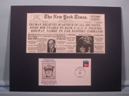 Truman relieves General MacArthur from command in Korea & Commemorative CoverReproductions - 156441