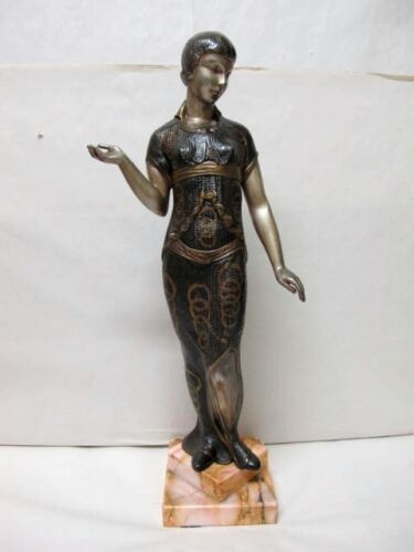 LARGE ART DECO COLD PAINTED SPELTER FIGURINE, C1920'S