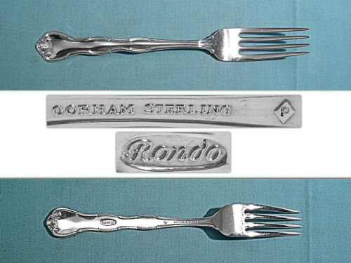 """GORHAM STERLING 7 1/2"""" PLACE FORK(S) ~ RONDO ~ NO MONO"""
