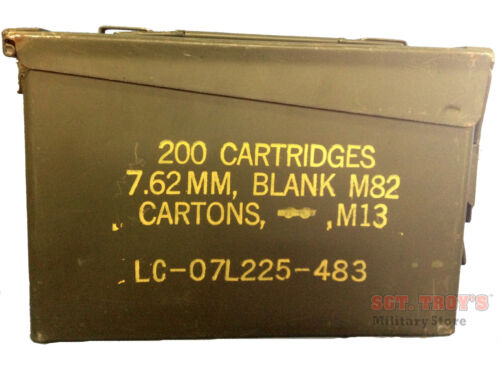 Military 30 CAL M19A1 Metal AMMO CAN 7.62mm BOX .30 CALIBER Very Good ConditionBoxes & Chests - 165616