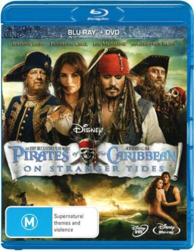 Pirates of the Caribbean 4: On Stranger Tides (BD/DVD) * Blu-ray Disc * NEW