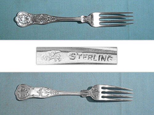 "WHITING MFG STERLING 7 5/8"" FORK(S) ~ OLD KING ~ MONO KB"
