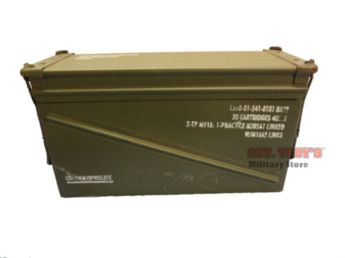 USGI 40mm AMMO CAN BA 20 100% STEEL LARGE AMMO CAN PA-120 VERY GOOD EmptyBoxes & Chests - 165616