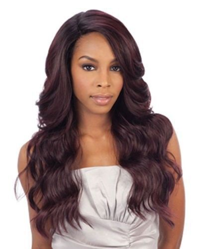DANITY BY FREETRESS EQUAL DEEP INVISIBLE 'L' PART SYNTHETIC LACE FRONT WIG