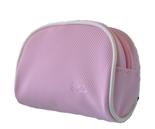 New Authentic Vintage LACOSTE Ladies Girls COIN PURSE Classic 2 Petal Pink
