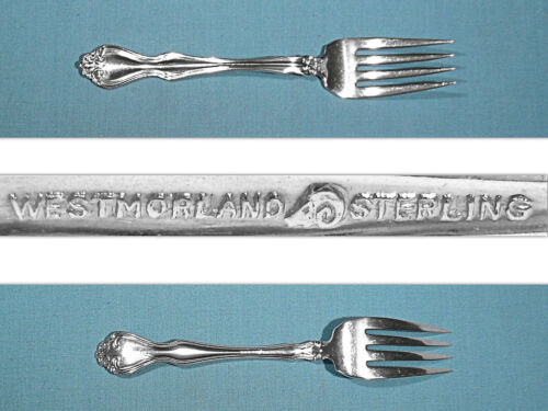WESTMORLAND STERLING SALAD FORK(S) ~ GEORGE & MARTHA WASHINGTON ~ NO MONO