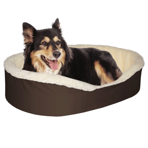 Dog Bed King USA Orthopedic Dog Pet Bed Brown/Imitation Lambswool BRNS