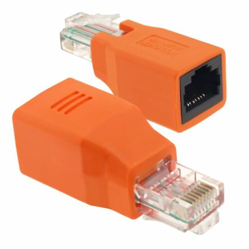 Connected Crossover Cable RJ45 M/F Adapter Male to Female