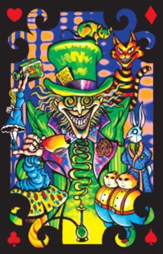 MAD HATTER COLLAGE - BLACKLIGHT POSTER - 23X35 FLOCKED FANTASY 997