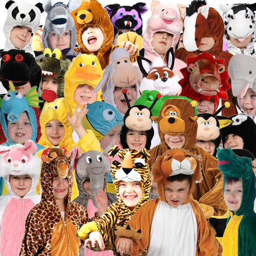Child Deluxe ANIMAL Plush BOOK WEEK Fancy Dress Outfit Costume Film Storybook
