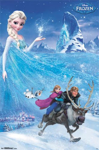 FROZEN - ONE SHEET MOVIE POSTER - 22x34 DISNEY NEW ANIMATED 13242