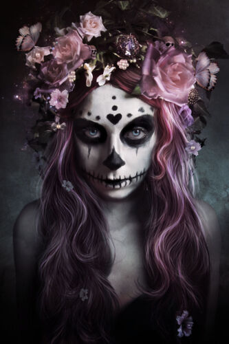 DIA DE MUERTOS - SEXY ART POSTER - 24x36 DAY OF THE DEAD GOTHIC HALLOWEEN 10585