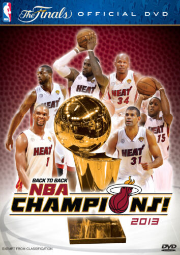 NBA: Back to Back NBA Champions 2013 - Miami Heat - The Finals * NEW DVD *