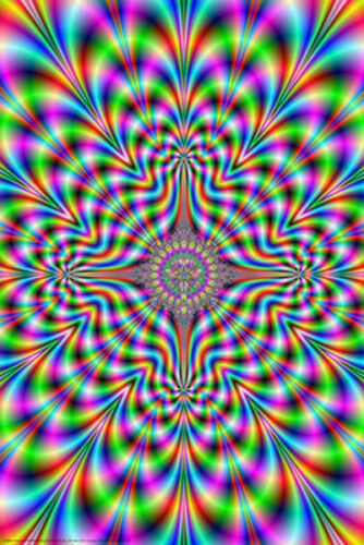 PSYCHEDELIC PULSE POSTER - 24x36 SHRINK WRAPPED - ILLUSION TRIPPY 4460