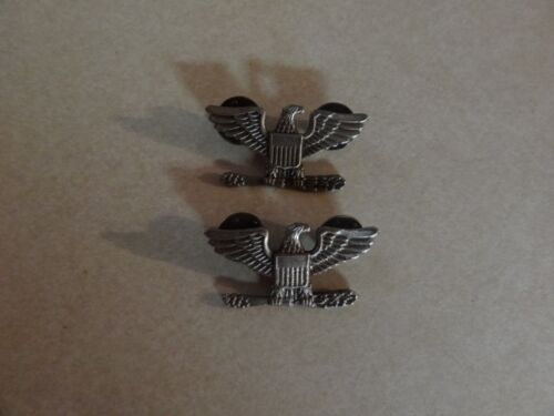 Us Military Insignia Set Of 2 Full Bird Colonel For Army Or Air Force