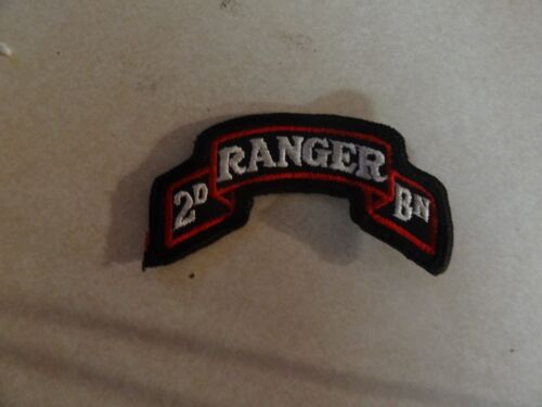 Patch Military Shoulder Tab Scroll 2nd Ranger Battalion Colored Sew On New