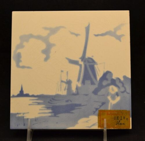 Salvage Boizenburg Germany Tile Delft Windmill Wedgwood BLue
