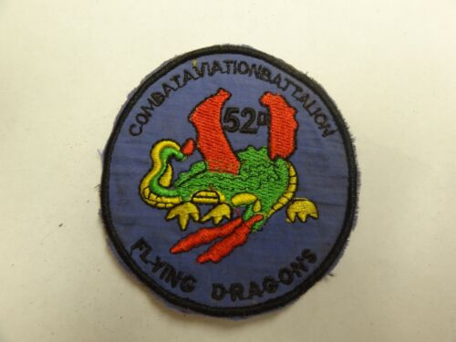 Military Patch Old Vietnam Era Theater Made Combat Aviation Bn Flying Dragons