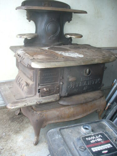 "old Antique cast iron oven /stove ""old Atlantic"""