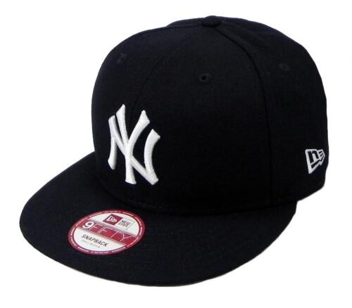 NEW ERA 9Fifty Hat New York Yankees Adjustable Baseball Cap Navy Blue Snapback