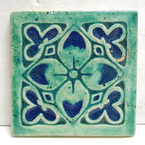 Hand Made Floral Tile 1940